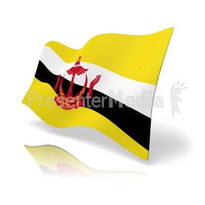 Flag Brunei PowerPoint Clip Art