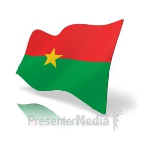 ID# 19852 - Flag Burkina Faso - Presentation Clipart