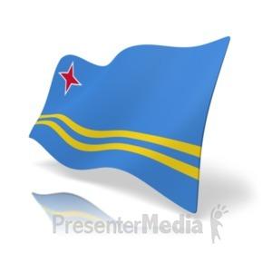 ID# 19855 - Flag Aruba - Presentation Clipart