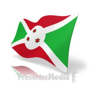 ID# 19856 - Flag Burundi - Presentation Clipart