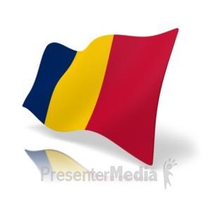 ID# 19860 - Flag Chad - Presentation Clipart