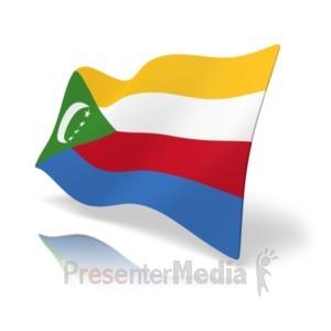 ID# 19862 - Flag Comoros - Presentation Clipart