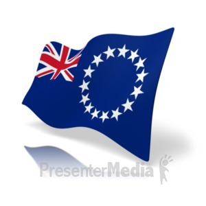 ID# 19863 - Flag Cook Islands - Presentation Clipart