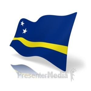 ID# 19864 - Flag Curacao - Presentation Clipart