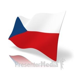 ID# 19865 - Flag Czech Republic - Presentation Clipart
