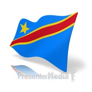 ID# 19866 - Flag Democratic Republic of Congo - Presentation Clipart
