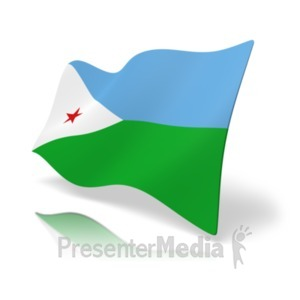 ID# 19867 - Flag Djibouti - Presentation Clipart