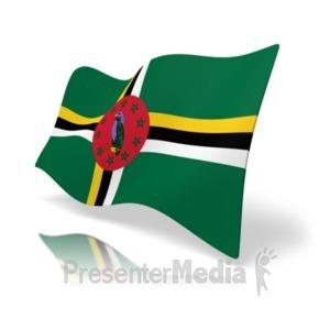 ID# 19868 - Flag Dominica - Presentation Clipart