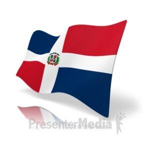 ID# 19869 - Flag Dominican Republic - Presentation Clipart