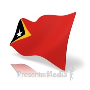 ID# 19870 - Flag East Timor - Presentation Clipart