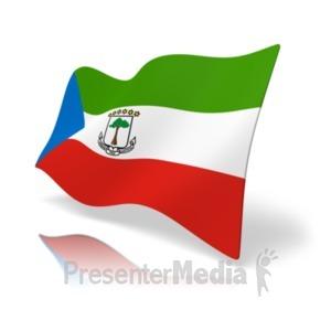 ID# 19871 - Flag Equatorial Guinea - Presentation Clipart