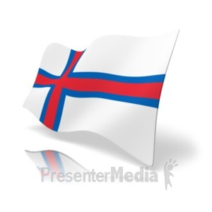 ID# 19873 - Flag Faroe Islands - Presentation Clipart