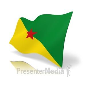 ID# 19875 - Flag French Guiana - Presentation Clipart