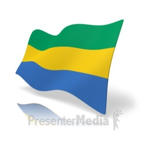 ID# 19884 - Flag Gabon - Presentation Clipart