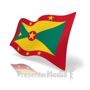 ID# 19886 - Flag Grenada - Presentation Clipart