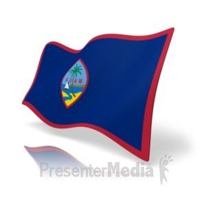ID# 19887 - Flag Guam - Presentation Clipart