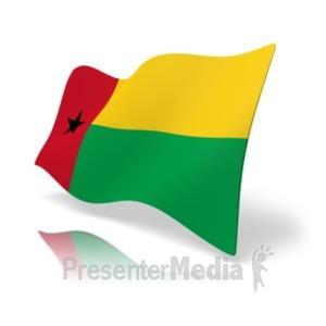 ID# 19888 - Flag Guinea-Bissau - Presentation Clipart