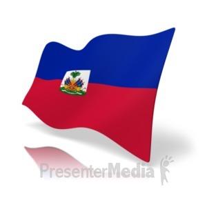 ID# 19889 - Flag Haiti - Presentation Clipart