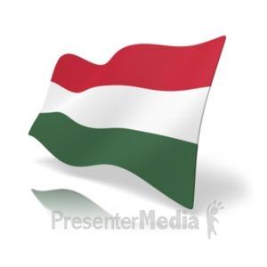 ID# 19891 - Flag Hungary - Presentation Clipart