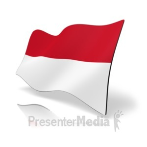 ID# 19893 - Flag Indonesia - Presentation Clipart