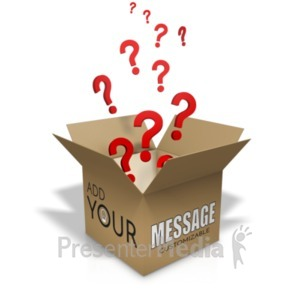ID# 19896 - Question Box Custom - Presentation Clipart