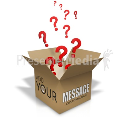 Question Box Custom Presentation clipart
