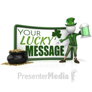 ID# 19903 - Leprechaun Sign Beer Pot Gold - Presentation Clipart
