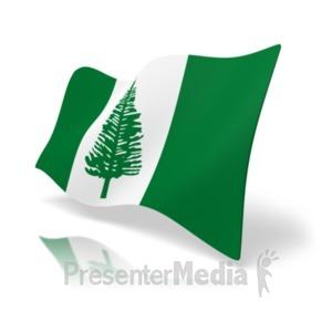 ID# 19922 - Flag Norfolk Island - Presentation Clipart
