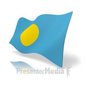 ID# 19925 - Flag Palau - Presentation Clipart