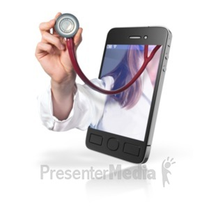ID# 19926 - Doctor Online Mobile Help - Presentation Clipart