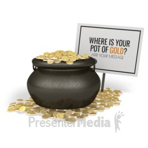 ID# 19940 - Pot Of Gold Sign - Presentation Clipart