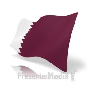 ID# 19949 - Flag Qatar - Presentation Clipart