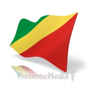 ID# 19950 - Flag Republic Of Congo - Presentation Clipart