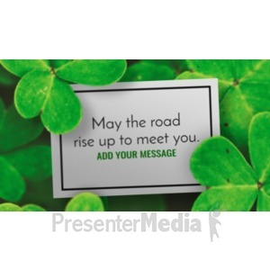 ID# 19955 - Clover Meadow Sign - Presentation Clipart