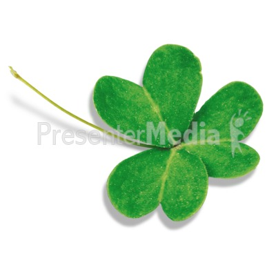 Single Three Leaf Clover PowerPoint Clip Art