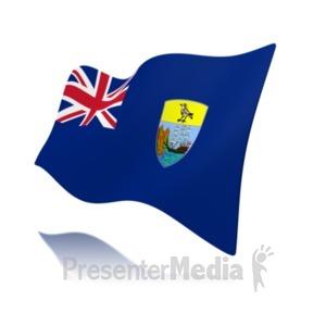 ID# 19971 - Flag Saint Helena Ascension And Tristan - Presentation Clipart