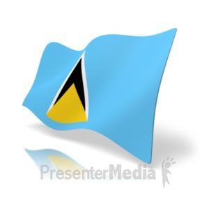 ID# 19973 - Flag Saint Lucia - Presentation Clipart
