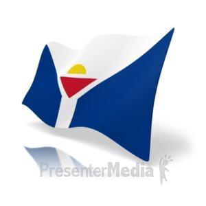 ID# 19974 - Flag Saint Martin - Presentation Clipart