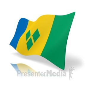 ID# 19976 - Flag Saint Vincent And The Grenadines - Presentation Clipart
