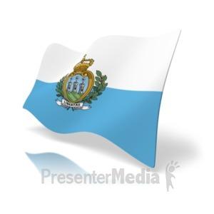 ID# 19977 - Flag San Marino - Presentation Clipart