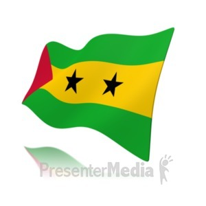 ID# 19978 - Flag Sao Tome And Principe Flag - Presentation Clipart