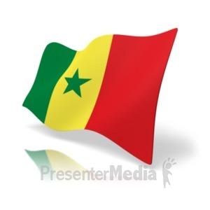 ID# 19987 - Flag Senegal - Presentation Clipart
