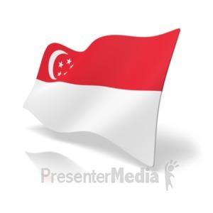 ID# 19988 - Flag Singapore - Presentation Clipart