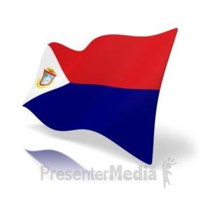 ID# 19989 - Flag Sint Maarten - Presentation Clipart