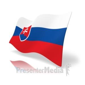 ID# 19990 - Flag Slovakia - Presentation Clipart