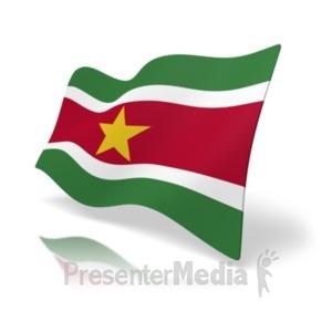 ID# 19993 - Flag Suriname - Presentation Clipart