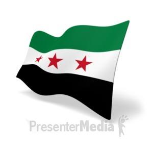 ID# 19994 - Flag Syria - Presentation Clipart