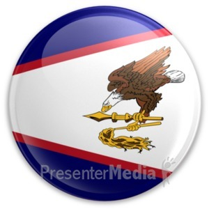 ID# 20003 - Badge of American Samoa - Presentation Clipart