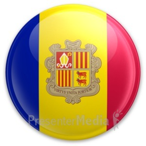 ID# 20004 - Badge of Andorra - Presentation Clipart