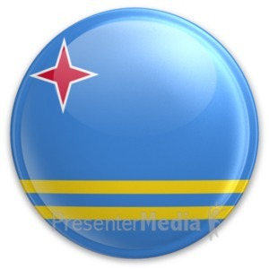 ID# 20007 - Badge of Aruba - Presentation Clipart
